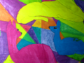 Primär- und Sekundärfarben  - Mischübungen unter Bildbetrachtungen von Franz Marc