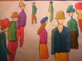 Räumliche Anordnung von Figuren nach August Macke
